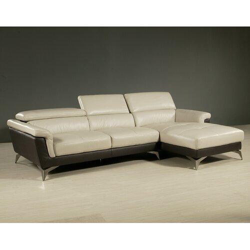 Pastel Furniture Elloise Leather Sectional Set