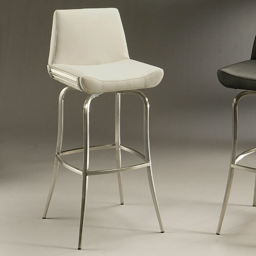 "Pastel Furniture Degorah 30"" Swivel Bar Stool with Cusion"