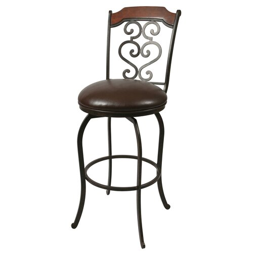"Pastel Furniture 26"" Swivel Bar Stool with Cushion"