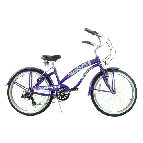 "Greenline Bicycles Girl's 24"" Beach Cruiser Bike"