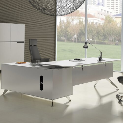 Jesper Office 400 Series Executive Desk with Return Cabinet