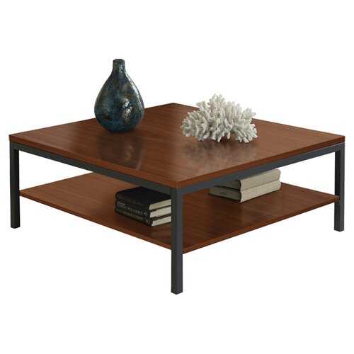Jesper Office Square Coffee Table with Shelf