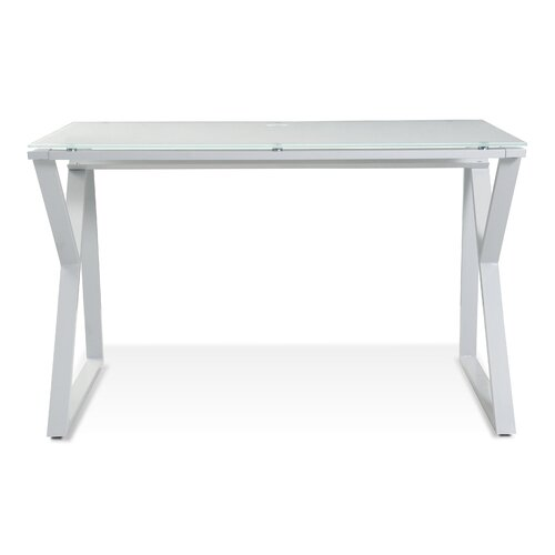 Jesper Office Tribeca Writing 223 Desk with White Glass Top