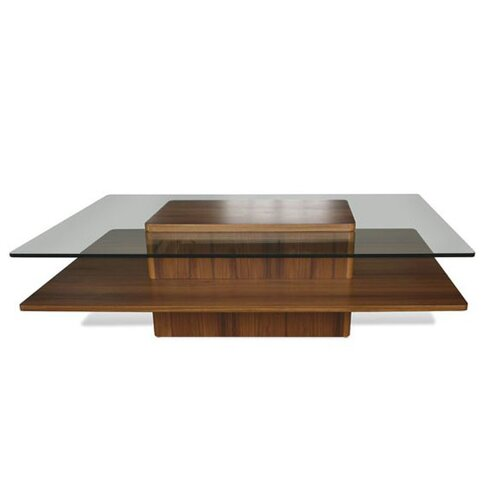 Jesper Office Glass Top 55-in Rectangular Coffee Table