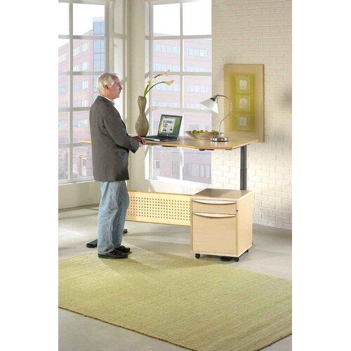 """Jesper Office Jesper Office Motorized Standing Desk in Wood 63"""" Top"""