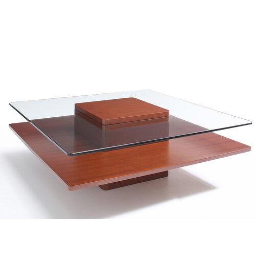 Jesper Office Glass Top 40-in Square Coffee Table