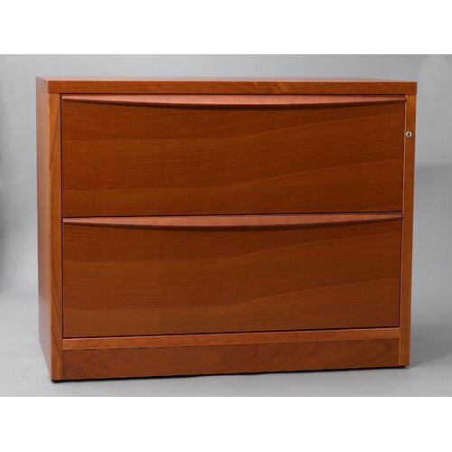 Jesper Office Jesper Office 390502 Lateral File Cabinet with Two Drawers in Wood