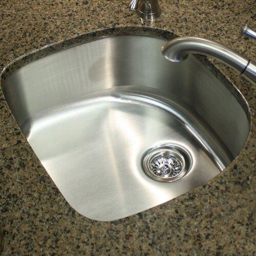23 75 quot x 21 5 quot 18 d shape undermount kitchen sink in