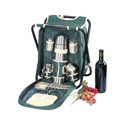 Sideline Picnic Backpack with Chair in Green