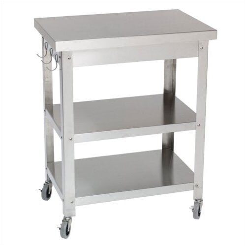 Danver Stainless Steel Kitchen Cart Amp Reviews Wayfair