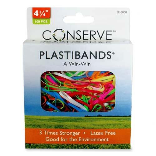 """Baumgartens PlastiBands, Size 2-1/8"""", 200/BX, Assorted Colors"""