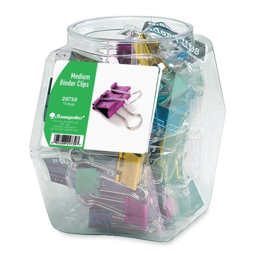 "Baumgartens Binder Clips, Medium, 1"", Contemporary Metallic, 18 per Set, Assorted"