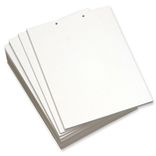 "Domtar Custom Cut Sheets, 2-Hole Top, 8-1/2""x11"", 5 RM/CT, White"