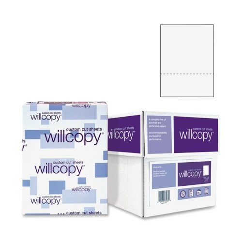 """Domtar Custom Cut Sheets, Microperf at 3-1/2"""", 5 RM/CT, White"""