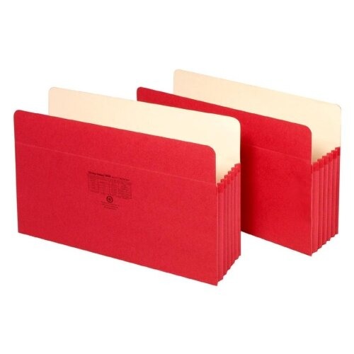 "Globe Weis File Pocket, 3-1/2""Expansion, 11-3/4""x9-1/2"", Red"