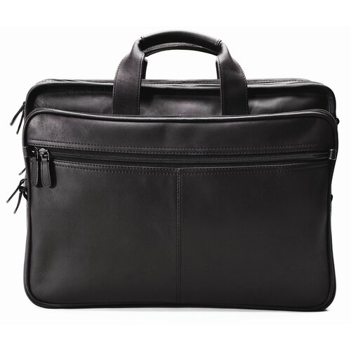 Winn International Checkpoint Leather Laptop Briefcase