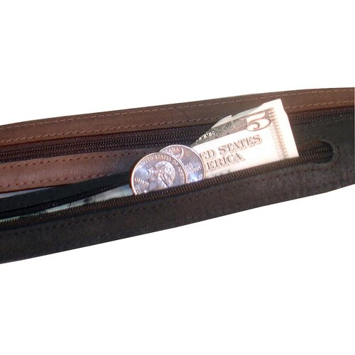 Winn International Faux Croc Embossed Leather Money Belt