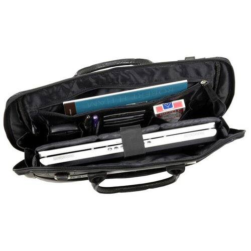 Winn International Leather Laptop Briefcase