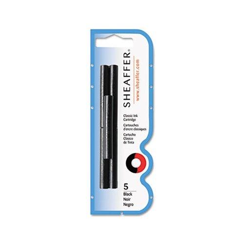 Sheaffer Pen Skrip Ink Cartridges for Calligraphy & Fountain Pens, Black, 5/Pack