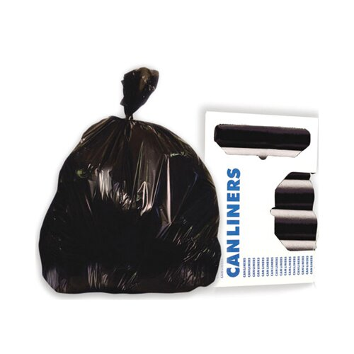 Boardwalk 60-Gallon High-Density Can Liner in Black