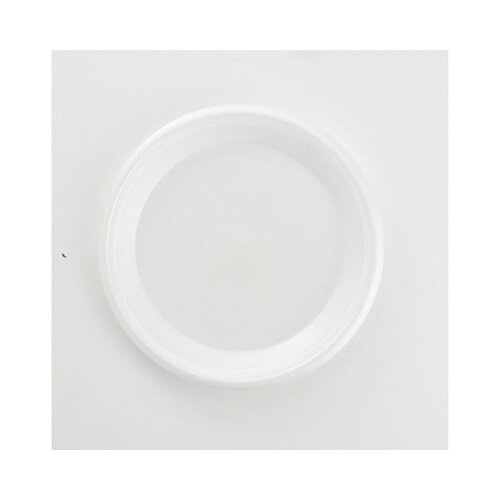 "Boardwalk 9"" Foam Plate in White"