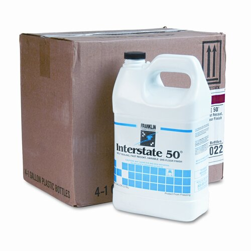 Franklin Cleaning Technology Interstate 50 Floor Finish, 4/Carton