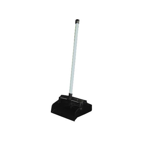 "Impact 37"" Lobby Master Plastic Lobby Dustpan in Black Pan and White Handle"