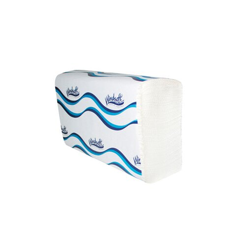 Windsoft Embossed C-Fold Paper Towel in White