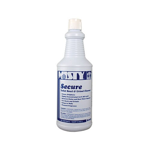 Misty Secure 10 Percent Hydrochloric Acid Bowl Cleaner Mint Scent Bottle