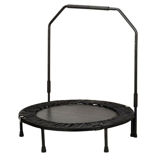 """Sunny Health & Fitness 40"""" Foldable Trampoline with Stabilizing Bar"""