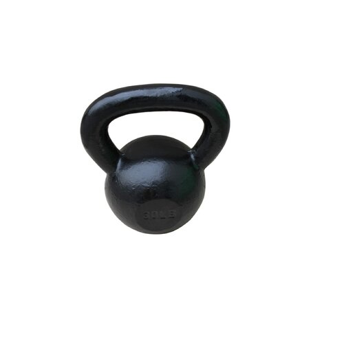 Sunny Health & Fitness 30 lbs Kettle Bell in Black