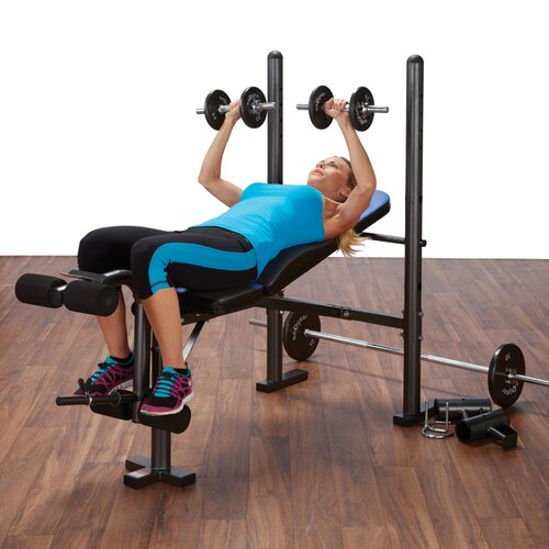 Pure Fitness Multi-Purpose Mid Weight Adjustable Olympic Bench