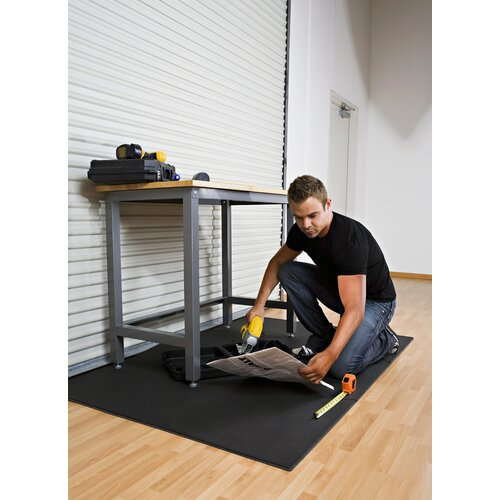 Norsk Floor Reversible Sport Foam Mats in Black / Gray (Pack of 4)
