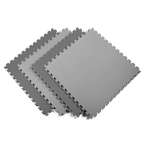 Norsk Floor Recyclamat Reversible Foam Mats in Black / Gray (Pack of 4)