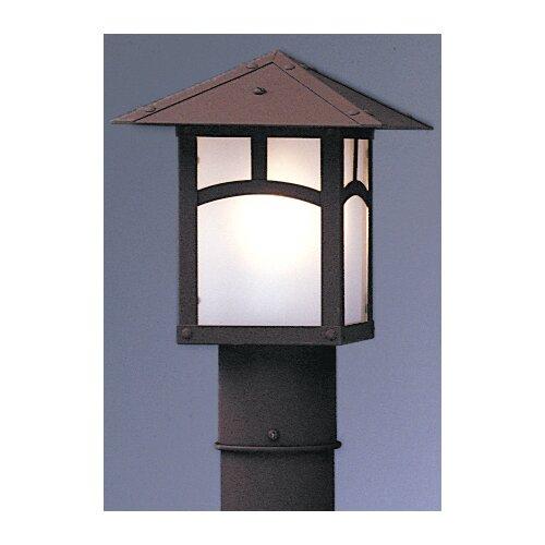 "Arroyo Craftsman Evergreen 1 Light 7"" Outdoor Post Lantern"