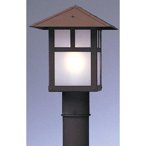 "Arroyo Craftsman Evergreen 1 Light 9"" Outdoor Post Lantern"