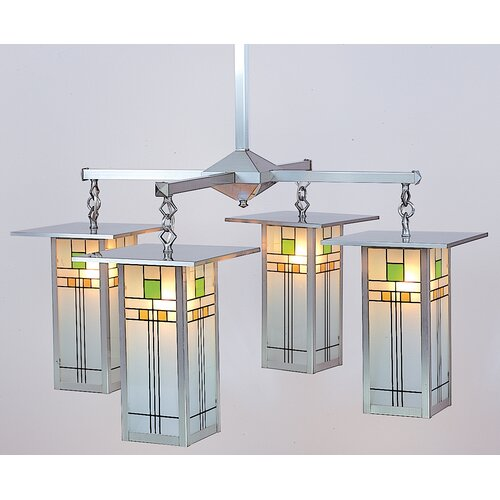 Arroyo Craftsman Franklin Long Body 4 Light Chandelier
