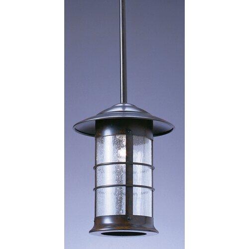 Arroyo Craftsman Newport Stem 1 Outdoor Light Hanging Lantern