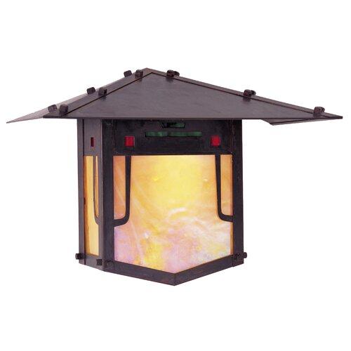 Arroyo Craftsman Pagoda 1 Light Outdoor Wall Lantern