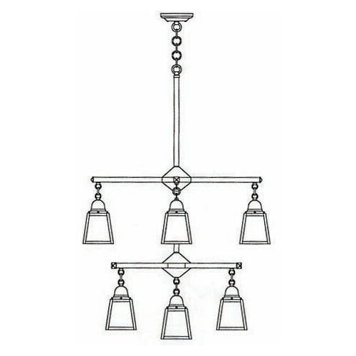 Arroyo Craftsman A-Line 9 Light Chandelier