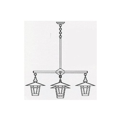 Arroyo Craftsman Westmoreland 5 Light Kitchen Island Pendant