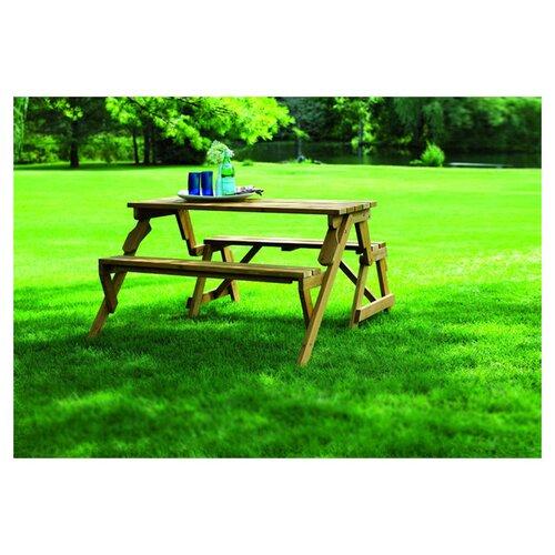 Atlantic Outdoor Convertible Wood Picnic Table and Garden Bench