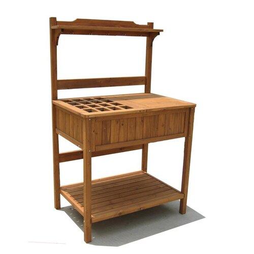 Atlantic Outdoor Wood Storage Bench