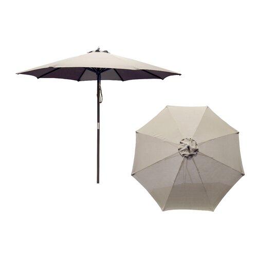 9' Hardwood Market Umbrella
