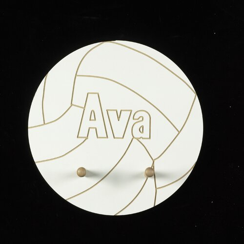 Personalized Volleyball Pegged Wall Plaque