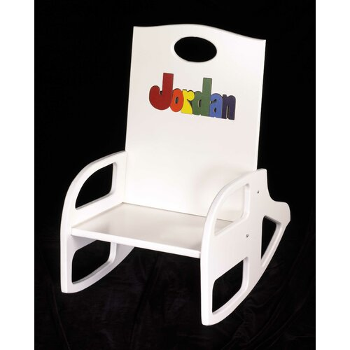 Personalized Double Name Kid's Rocking Chair