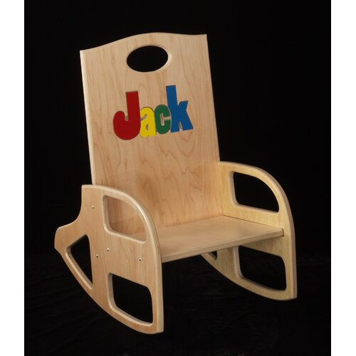 Hollow Woodworks Personalized Kid's Rocking Chair