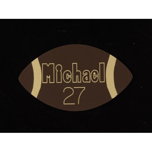 Personalized Football Wall Plaque