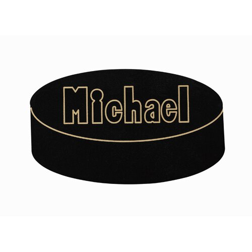 Personalized Hockey Puck Wall Plaque
