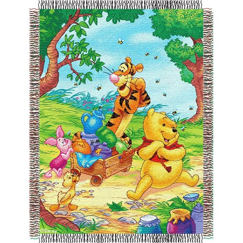 Northwest Co. Entertainment Tapestry Throw Blanket - Pooh - Sweet Summer Day